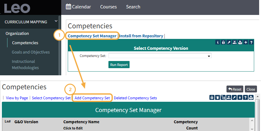 Step 4: Competency Set Manager