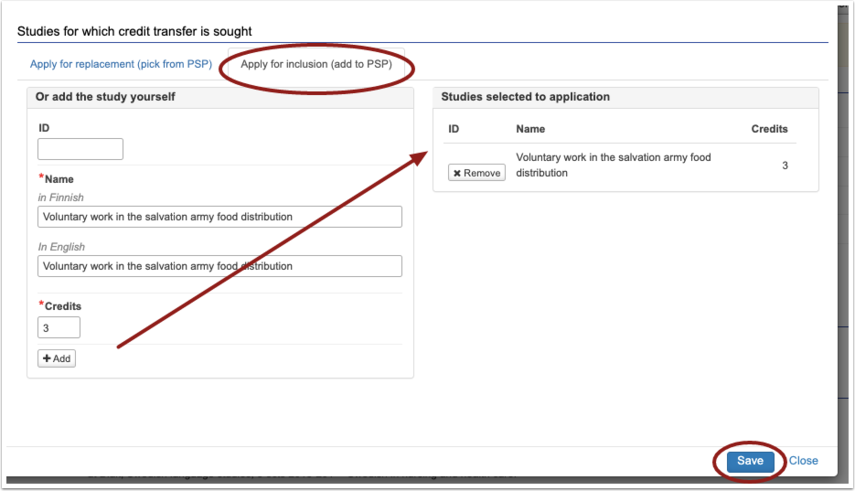 PIC: Add included studies to the application section