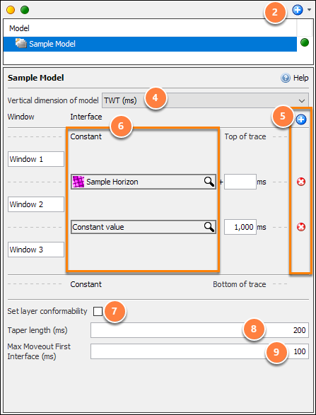 Create a windowing model