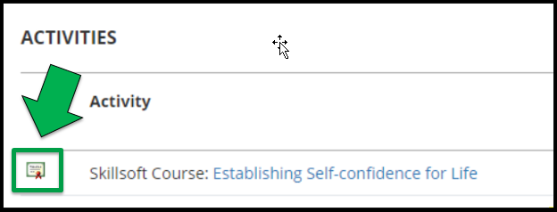 Green arrow pointing to Certificate icon.