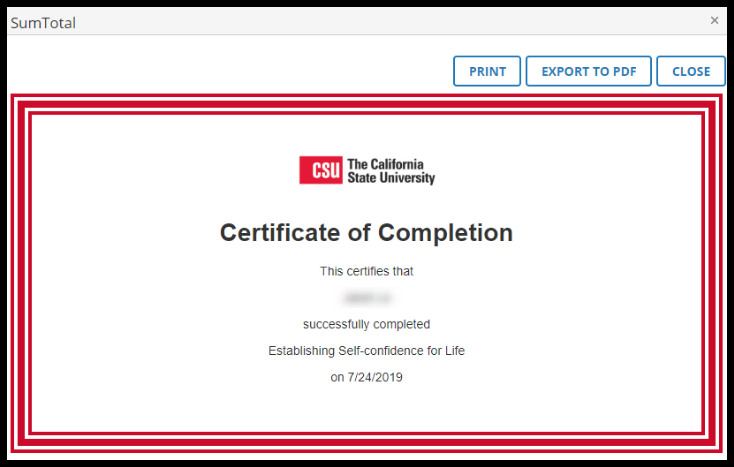 Image of certificate.