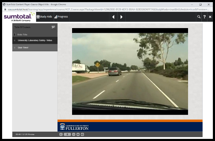 Image of video for a training.
