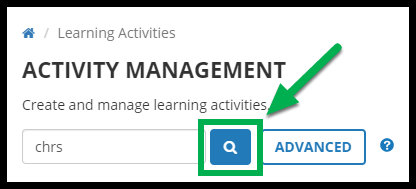 Green arrow pointing to Search button.