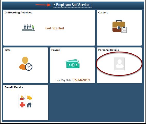 employee self service homepage