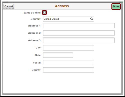 Address pagelet