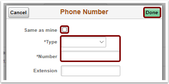 phone number pagelet