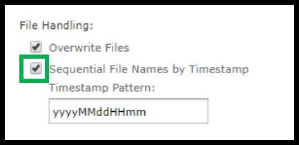File Handling. Box outlining File Handling option