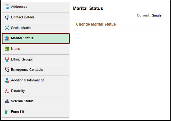 Marital Status homepage