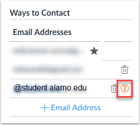 If you have an error icon next to your Alamo Colleges District email then contact our Help Desk