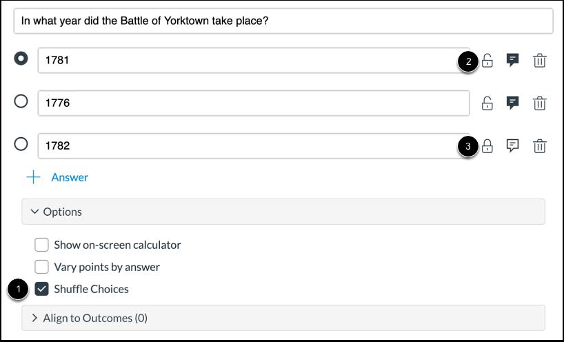 Shuffle Answers