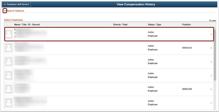 view compensation history page