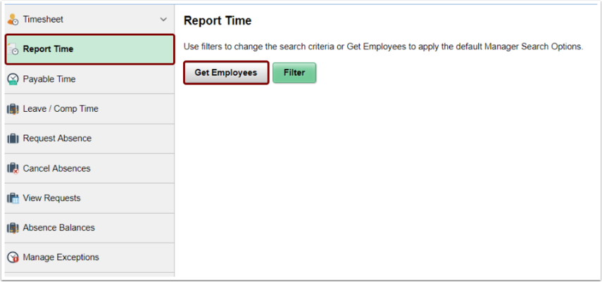 Report time get employees