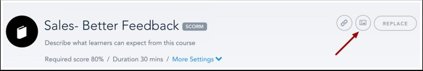 Edit SCORM Course