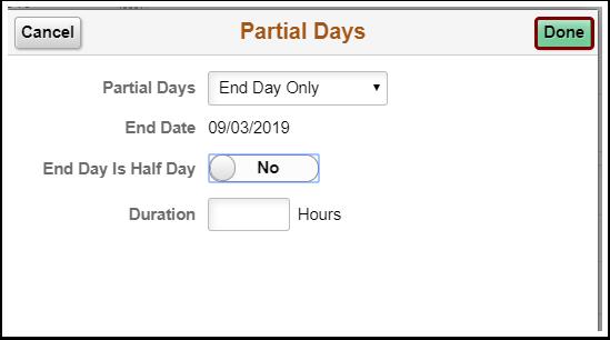 partial days