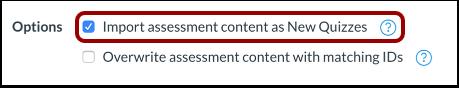 Importar evaluaciones a Nuevas evaluaciones