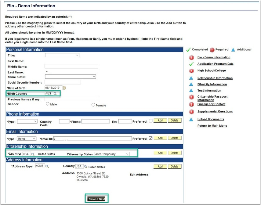 Bio-Demo Information page