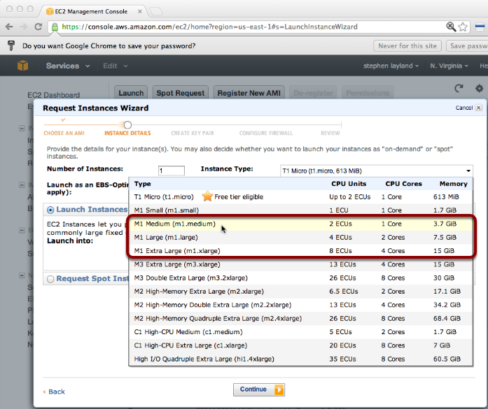 Launch an EC2 instance with enough resources