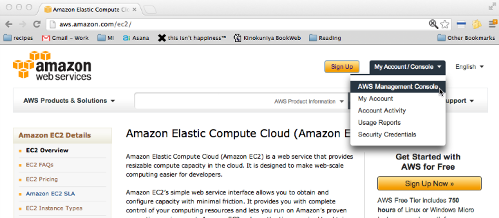 Log into your AWS account