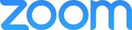 Blue Zoom lettered logo