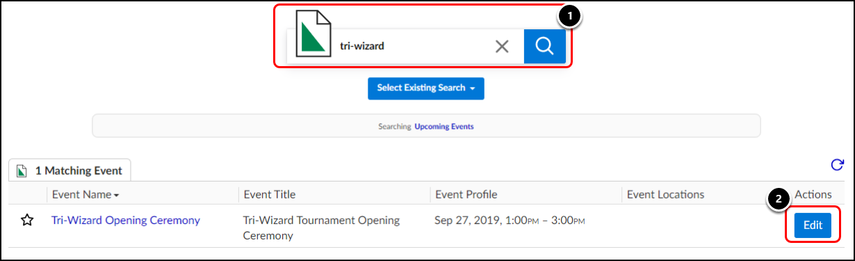 Event Search