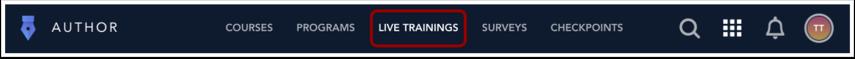 Open Live Trainings