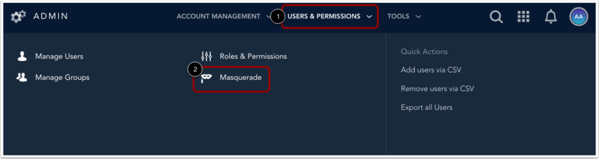 Masquerade as User