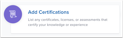 Add Certifications