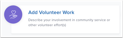 Add Volunteer Work