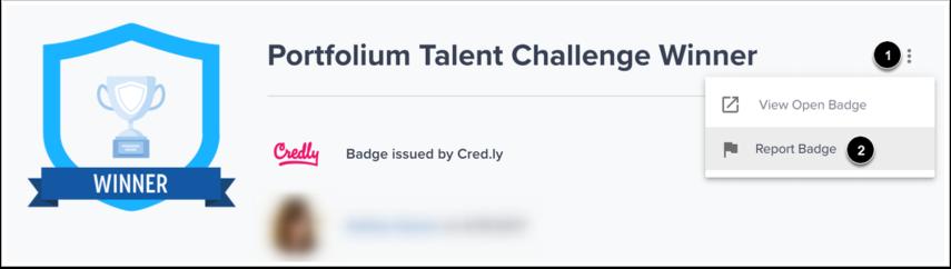 Report Badge