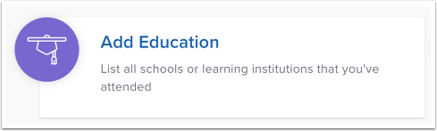 Add Education