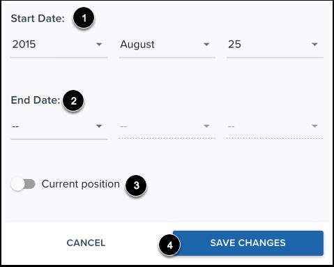 Add Position Dates