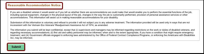 reasonable accommodation notice