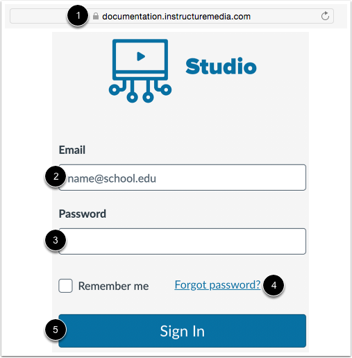 Sign in to Studio Site