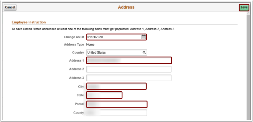 The Address pagelet