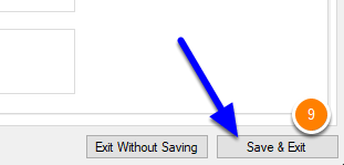 Save and Exit