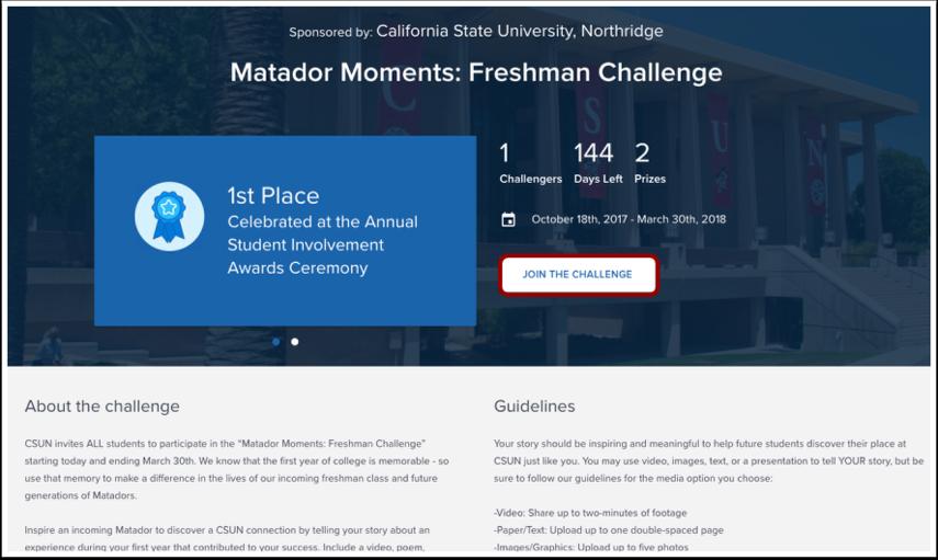 View Challenge Details