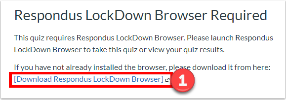 Download Respondus LockDown Browser using the custome Yale download link