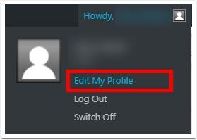 """Click """"Edit My Profile"""""""