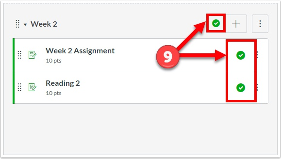 Remember to publish both the module and the items in order for students to view.