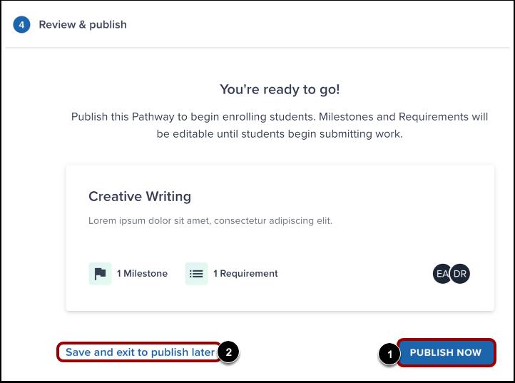 Publish Pathway