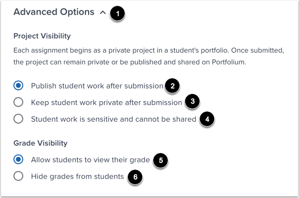 View Advanced Options