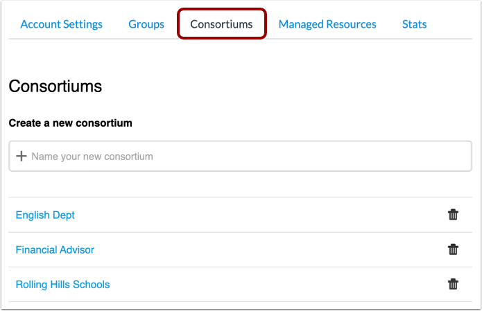 View Consortiums