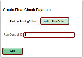 create final check paysheet add a new value