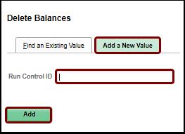Delete Balances add a new value