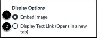Select Display Options