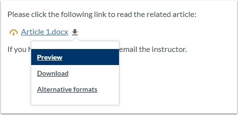 Preview, Download, or see Alternative formats of a file