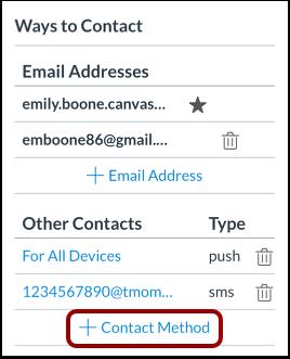 Add Contact Method