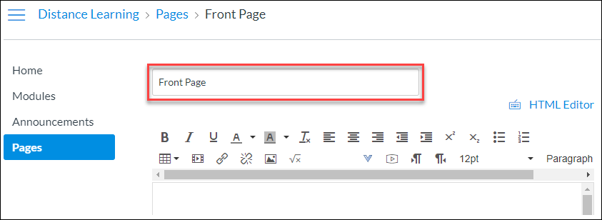 Page titles automatically use the H1 tag