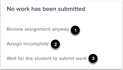 View Unsubmitted Assignment