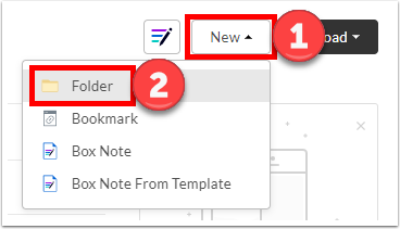"Click on ""New"" and select ""Folder"